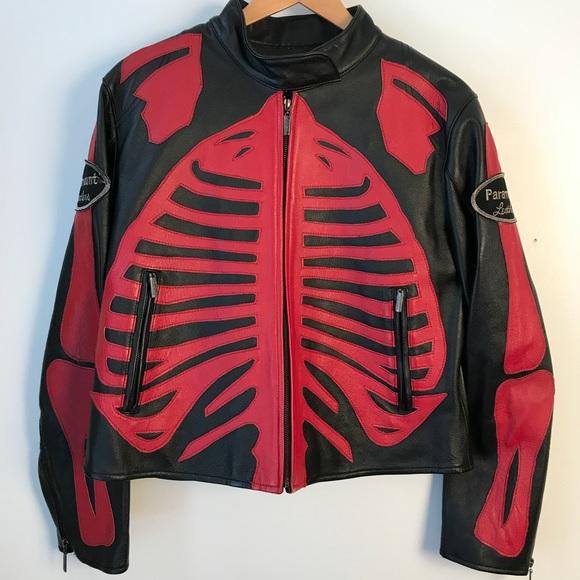 c73523a96 paramount leathers Jackets & Coats | Vtg Paramount Leather Skeleton ...